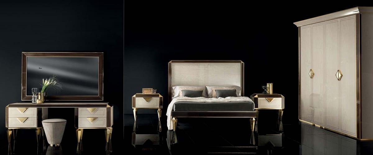 DIAMANTE wardrobe, Classic style wardrobe for bedroom