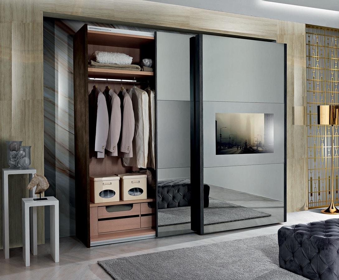 Domino wardrobe, Wardrobe with sliding doors