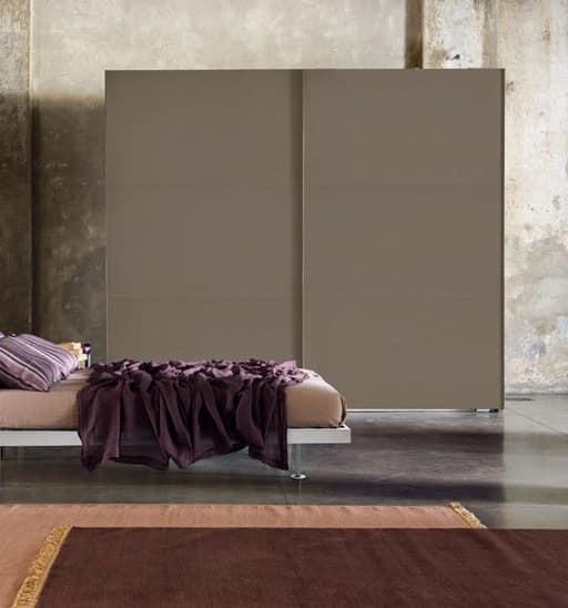 DREAM, Essential monochrome Wardrobe with sliding door
