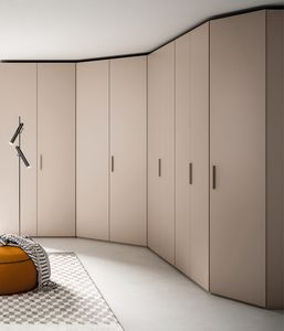 FILO, Wardrobe made of melamine colored cocoa