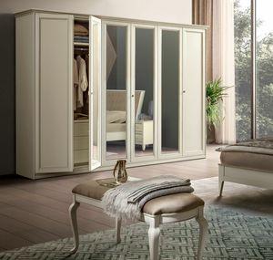 Giotto wardrobe, Wardrobe with mirrored doors