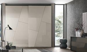 Kross, Wardrobe with geometric decoration doors