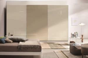 Lord, Wardrobe with sliding doors ideal for modern bedrooms
