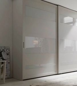 Madison, Sliding door wardrobe with decorative inserts