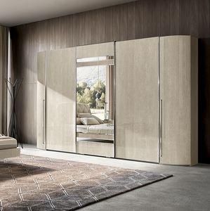 Maia wardrobe, Large wardrobe with mirrored doors