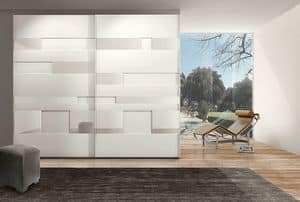 MISS GRAFF comp. 03, Modern wardrobe with sliding doors for hotels