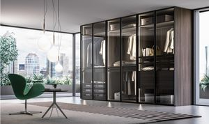 MOLTO, Wardrobe with smoked glass doors