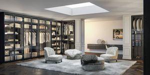 Naxos wardrobe 01, Wardrobes with smoked glass