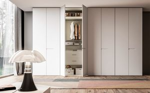 OTTO, Wardrobe with white lacquered doors