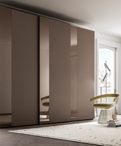 PARIGINO, Wardrobe with decorative glass band