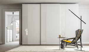 PARIGINO, Wardrobe with sliding doors made of oak