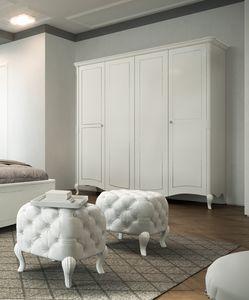 Prestige 2 Art. 5315, Classic style wardrobe, in white lacquered wood
