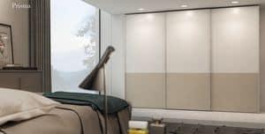PRISMA, Wardrobe with sliding doors, made of melamine