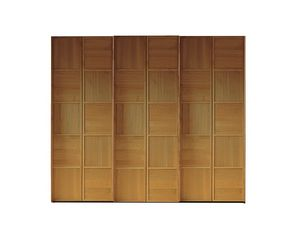 Scacchi 0372, Wooden wardrobe with sliding doors