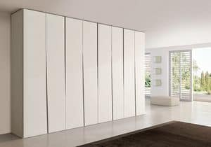 SIPARIO comp.02, Contemporary wardrobe for bedrooms, slim and compact