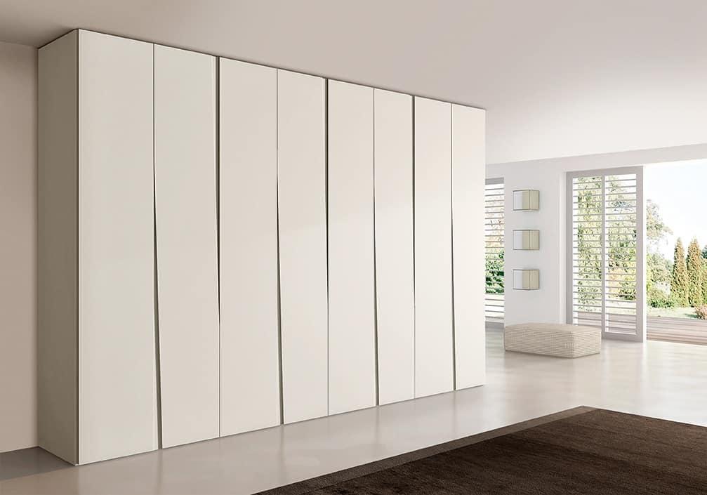 SIPARIO comp.02, Contemporary wardrobe for bedrooms, slim and compact