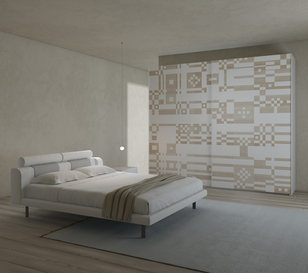SPARTITO, Wardrobe with sliding doors, various designs and dimensions