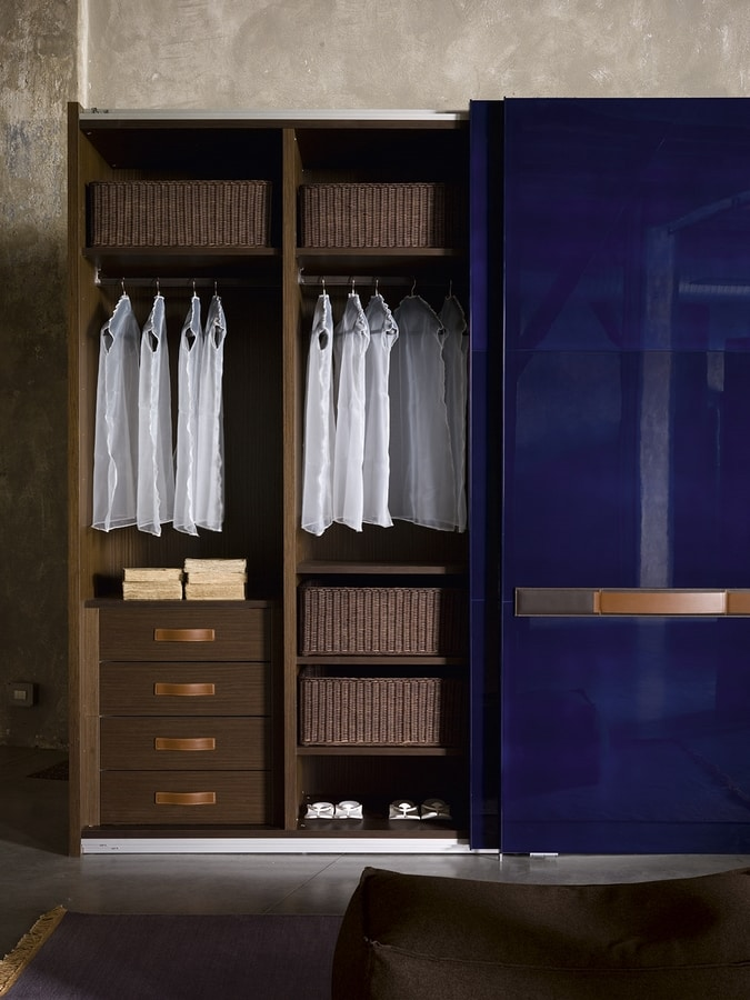 SUMO, Modular wardrobe with sliding doors, various finishes
