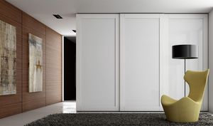 TELAIO, Wardrobe with painted glass doors