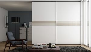 TOTAL, Wardrobe with sliding door, white lacquered