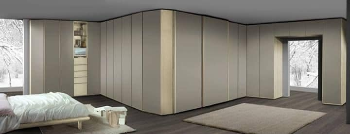 Wardrobe 21, Modular cabinet, bridge and angular elements, with hinged doors