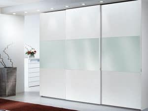 Wardrobe Zen 02, Wardrobe with mirror, ideal for luxury hotels