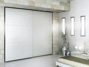 Wardrobe Zen 11, Contemporary wardrobe, durable materials, for hotels