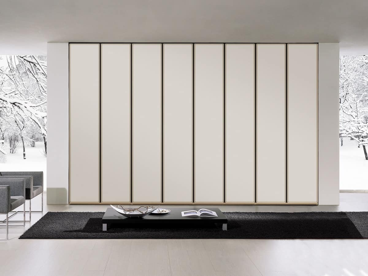 Wardrobe Tera 01 Linear Cabinet With Wide Opening Doors Various Colors