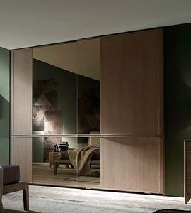 Way, 2 sliding doors wardrobe with mirror