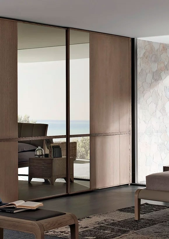 Way, 2 sliding doors wardrobe with mirror