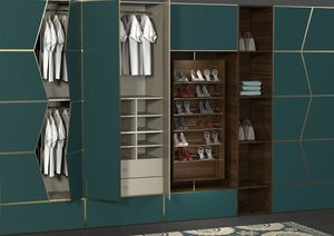 Zenit bedroom, Modular system of equipped walls for bedroom