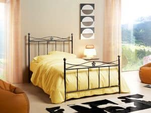 Albatros 120, Single bed in Art Nouveau style, merger floral design
