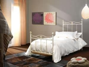 Albatros, Bed made of iron tubing, available in various colors