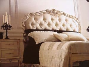 Art. 1753, Double bed, quilted, carved, for bedroom