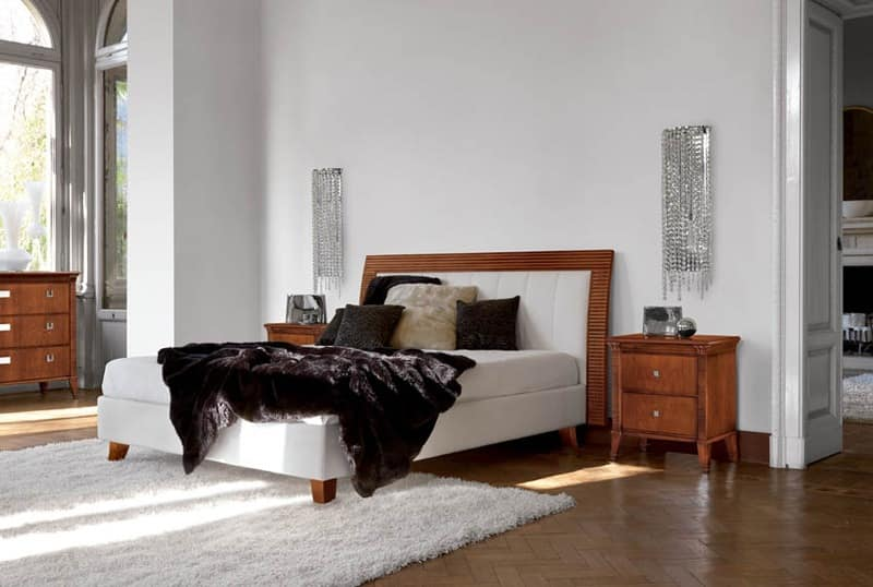 Art. 393 Vivre bed, Bed with upholstered headboard and bed frame
