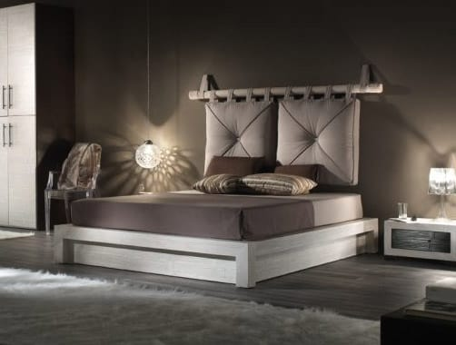 Bed essenzial new, Ethnic double bed in bamboo