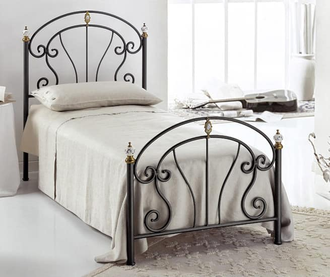 Bolero Single Bed, Single bed in iron,for modern bedrooms