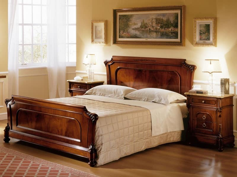 D'Este bed, Hand-carved beds, for Classic luxury bedroom