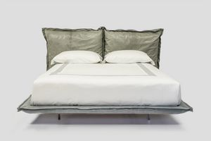 Double, Upholstered bed with Cinelli duvet headboard