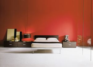 FILIPPO, Bed with aluminum structure, available in various sizes