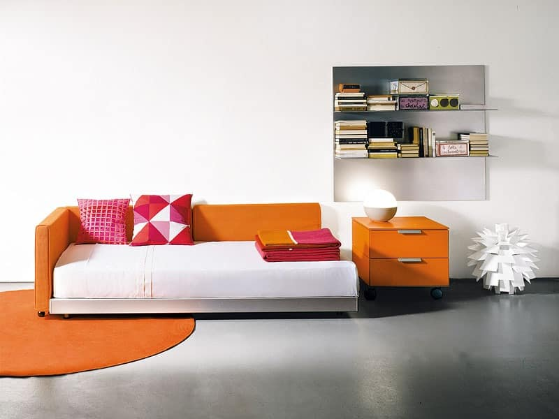 FLIPPER single, Sofa bed in modern style, for residential use