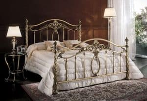 GIORGIA 1299 BRO, Brass double bed for hotel, classic style