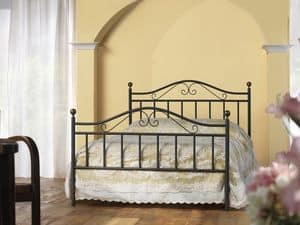 Giulia 120, Classic bed in iron, for Traditional Bedroom