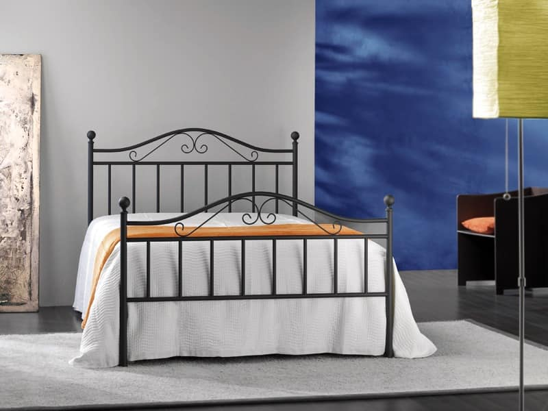 Giusy 120, Double metal bed, for Classic bedroom