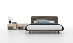 MAGGI, Bed with headboard made of melamine