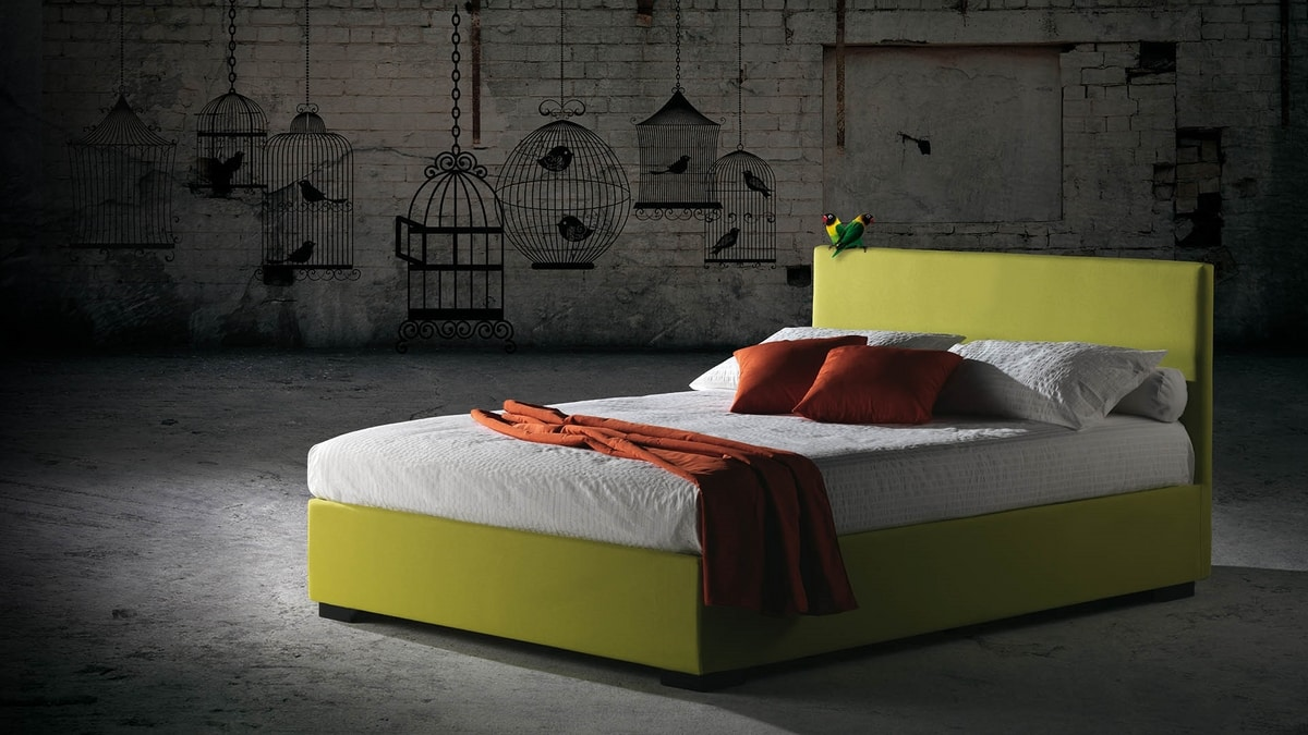 Malibù, Bed with removable upholstery