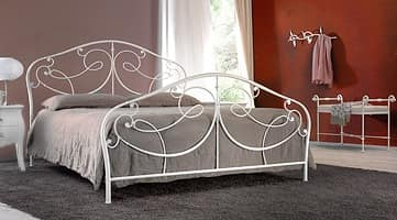 Marlene, Metal double bed, painted finish