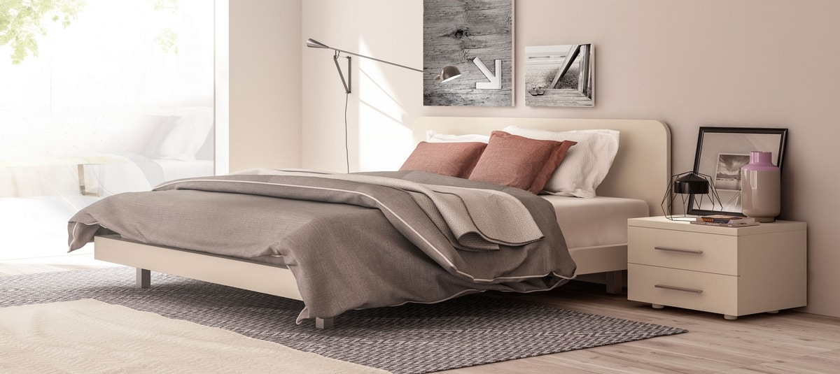 MATRIX, Double bed with headboard