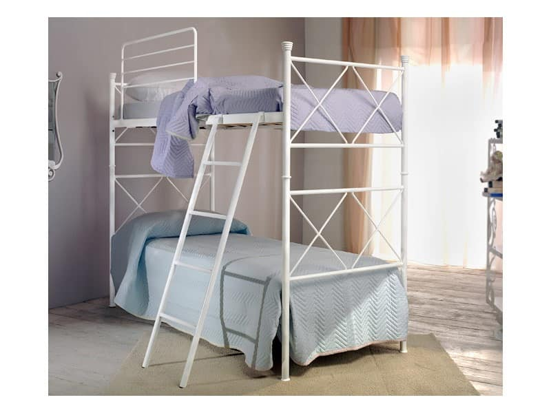 Metropolis, Bunk bed in iron, with ladder and protection