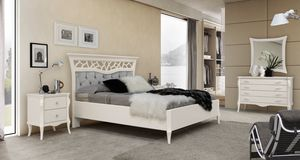 MONTE CARLO / bed, Contemporary classic bed with capitonn� headboard